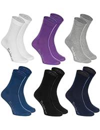 6, 9 ou 12 paires de Chaussettes de Coton de 12 couleurs faites dans l'UE, le coton de haute qualité certifié Oeko-Tex, plusieurs tailles: 36, 37, 38, 39, 40, 41, 42, 43, 44, 45, 46 by Rainbow Socks