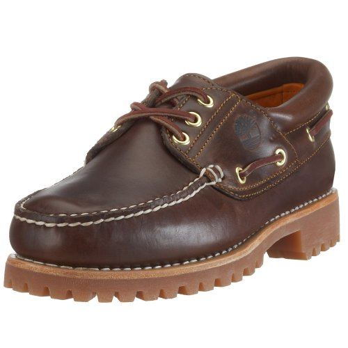 Timberland Heritage 3-Eye Classic Lug, Chaussures Bateau Homme Marron foncé (Burgundy Pull-Up)