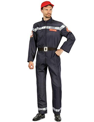 Generique - Costume da pompiere per uomo L