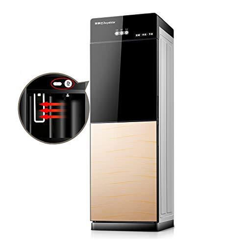 Heiß- und Kaltwasserspender 5 Gallonen, freistehender Wasserkühler und Heißwasser-Toplader für das Heimbüro, Kindersicherung und energiesparend, einfach zu bedienen (Color : Gold A)