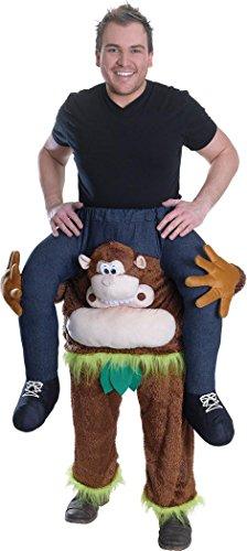 Erwachsene Karneval Halloween Party Schulter Trage Mich Kostüm Schweinchen Rücken Darauf Reiten Outfit - Affe, Einheitsgröße