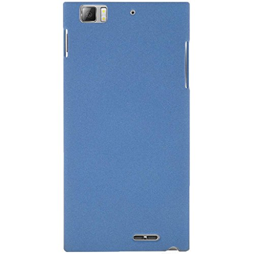 Heartly QuickSand Matte Finish Hybrid Flip Thin Hard Bumper Back Case Cover For Lenovo K900 - Mobile Blue  available at amazon for Rs.219