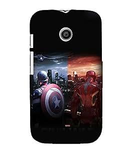 printtech Super Guys Fight For Glory Back Case Cover for Motorola Moto E XT1021 / Motorola Moto E (1st Gen)