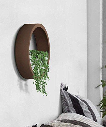 RSWLY Blumentopf Wand Dekoration Ideal Für Sukkulenten, Air Plant, Mini Cactus, Faux Pflanzen und Mehr (Keine Steine   und Grüne Pflanzen, Braun),M - Coat Band Rack