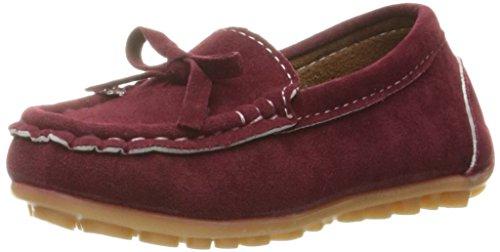 Eagousni® Jungen/Mädchen Fancy Comfort Mokassin Wildleder Leder Loafers Kinder Erbsenschuhe Flache Bootsschuhe Babyschuhe
