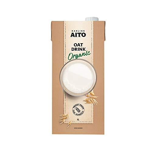 Aito Bio Hafermilch Getränk vegan ungesüsst Hafer Drink 1L 8 Pack