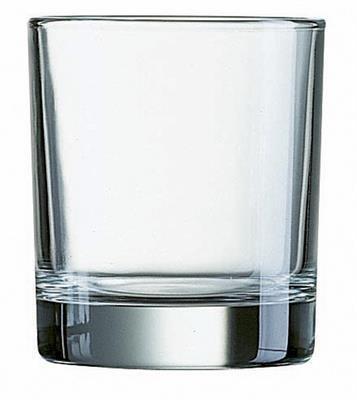 Bierkrug Glas, niedrig, 300 ml, Island Arcoroc Professional nicht vergütet J3313, 6 Stück