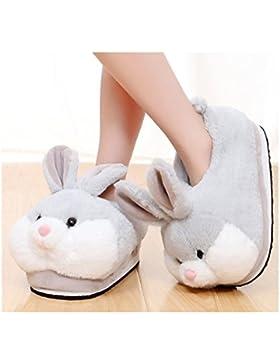 [Sponsorizzato]Shi xiaoshu Cartoon Animali Coniglio Scarpe casa Scarpe casa Scarpe casa (Gray)