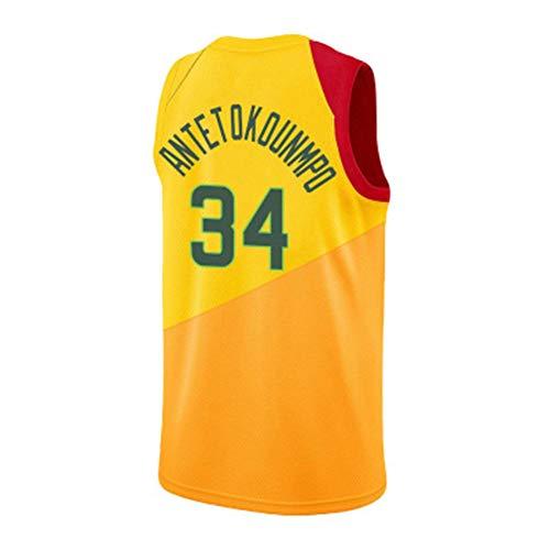LZNK Mens Neue Saison 34 Trikot Team Basketball Uniform Basketball Uniform Swingman Jersey Westen Tops Sleevless T Shirts-D-L -