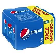Pepsi - Bebida Refrescante, lata 33 cl (Pack de 9)