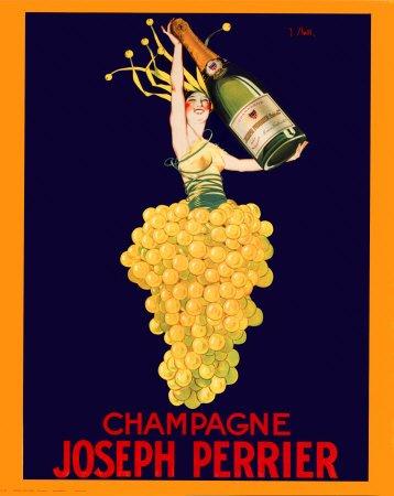Affiche 'Champagne Joseph Perrier', Taille: 41 x 51 cm