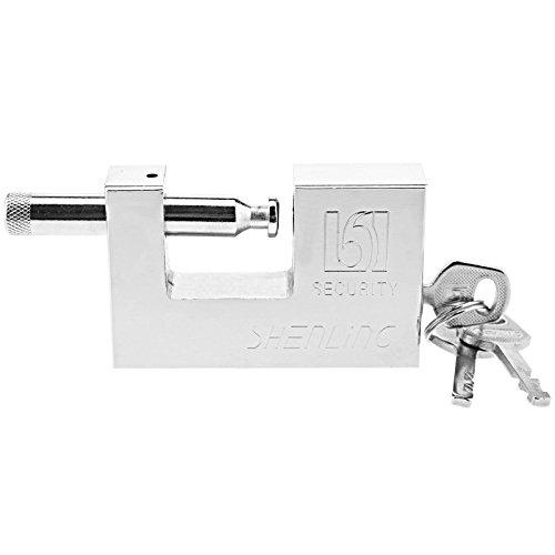 Create Idea - Candado de Seguridad con 3 Llaves para Garaje o Remolque