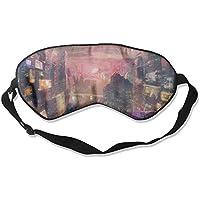 Sleep Eye Mask Futuristic City Lightweight Soft Blindfold Adjustable Head Strap Eyeshade Travel Eyepatch preisvergleich bei billige-tabletten.eu