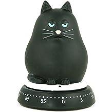 Bengt EK Design Tier 618 - Cronómetro de cocina, diseño de gato, color negro
