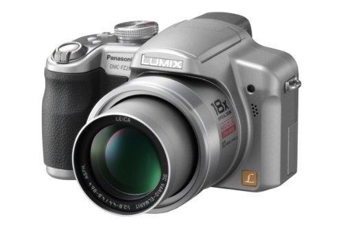 Panasonic DMC-FZ28EG-S Digitalkamera (10 Megapixel, 18-fach opt. Zoom, 6,9 cm (2,7 Zoll) Display) Titan-Silber 10,1 Mp 2,7