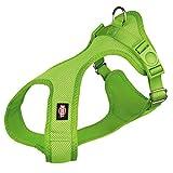 Trixie Comfort Soft Touren-Geschirr Hundegeschirre Brustgeschirre Hunde (XXS-XS(28-40 cm/15 mm), grün)