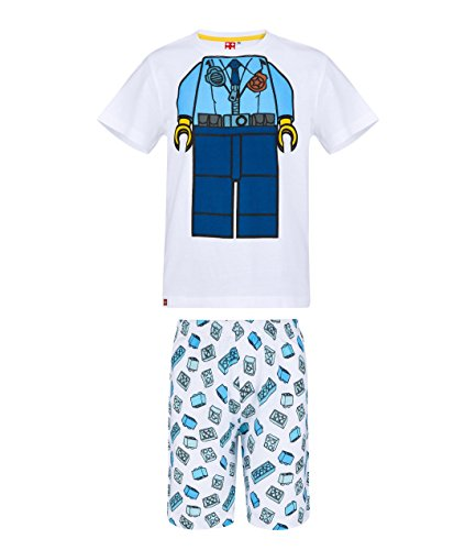 LEGO Jungen Shorty-Pyjama - weiß - 104 - Shorty Kinder Pyjama