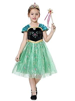 Pretty Princess Disfraces Princesa Vestido niña Trajes de Fiesta de Reina de Nieve Cosplay 5-6 años TS104 de Pretty Princess