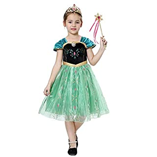 Girls Fancy Dress Princess Costumes Snow Queen Party Outfit Cosplay Age 3.-4 Years