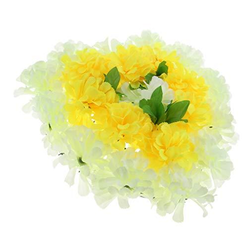 Baoblaze Künstliche Blumenkranz Grabschmuck Grabgesteck Grabdekoration Totensonntag Allerheiligen für Trauerfeier