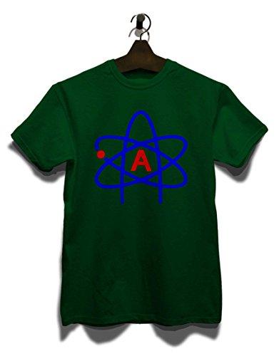 Atheist Symbol T-Shirt Dunkel Grün