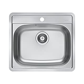 Alveus Sink Made of Stainless Steel 18/10(Pack of 1), 56x 50cm 1111342