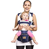 Bebamour Baby Carrier Newborn to Toddler 5 in 1 Baby Carrier Backpack, Approved by CPC Safety Certified (Dark Blue)