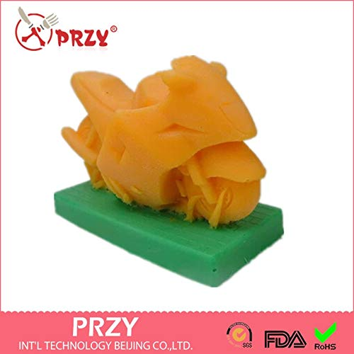 Zoomy far Zoomy Lontano: Fai da Te Handmade Soap Decorazione Muffa del Sapone Freddo 3D di modellazione Moto Silicone della Torta della Muffa della Muffa della Candela Aroma Stampo Pietra s