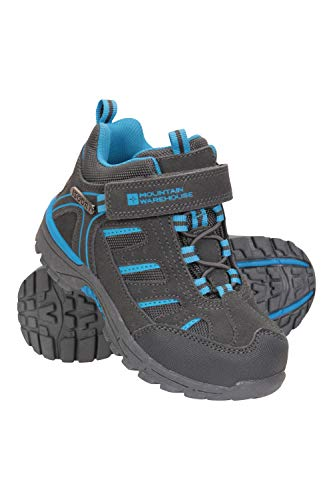 Mountain Warehouse Drift Junior Kids Boots - Waterproof Rain Boots, Durable Walking Shoes, Breathable Childrens Hiking Boots, Good Grip Footwear - for Both Girls & Boys