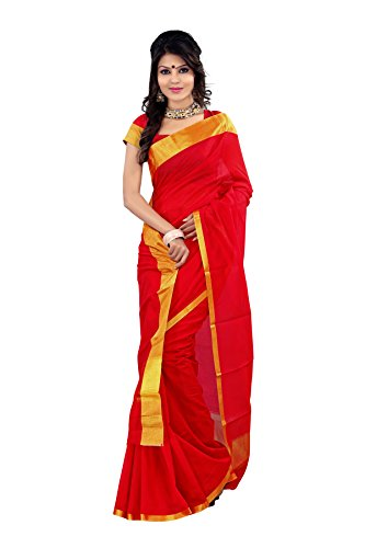 Mimosa Soft Cotton Silk Saree(3046-MP-DSTISSE-RED)