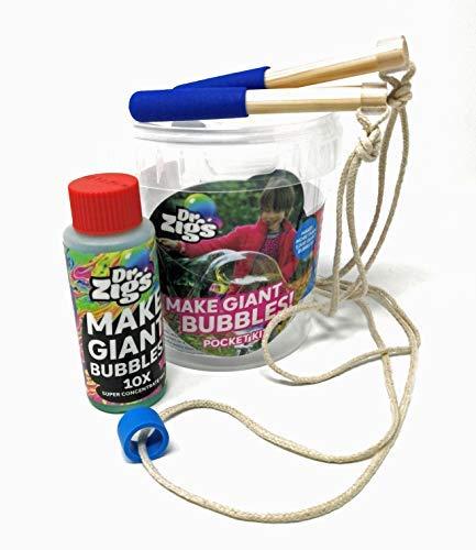 Pompas de jabón gigantes - Kit de bolsillo (Poket Kit) - Dr Zigs Extraordinary Bubbles