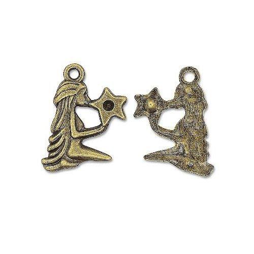 50+ Bronzo Antico Tibetano 24mm Ciondoli Pendente (Dea) - (ZX15825) - Charming Beads