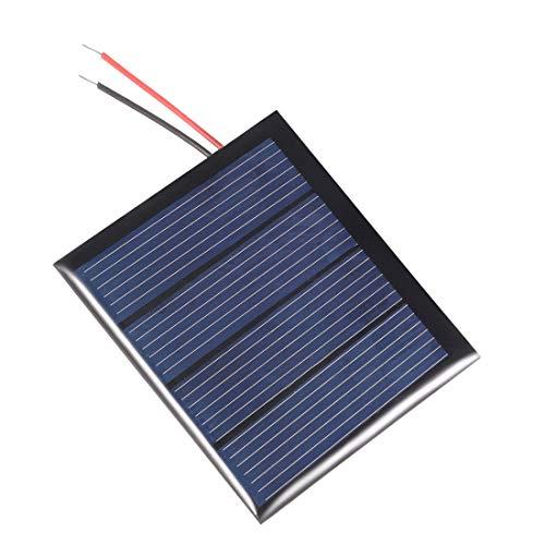 sourcing map 0,36W 2V Klein Solarpanel Modul DIY Polysilicium mit 1.4M Draht für Telefon