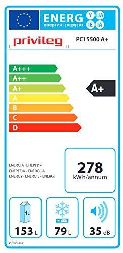 Privileg PCI 5500 A+ Einbau-Kühl-Gefrierkombination Kühlschrank Gefrierteil