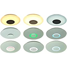 Lámpara de techo Trango LED de 24W, 2400lúmenes, incluye altavoz bluetooth integrado con iluminación ambiental RGB, regulable, TG3095