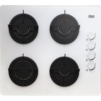Faure FGO62414WA plaque - plaques (Intégré, Gaz, Verre, Blanc, Émaillé, e0244476be57