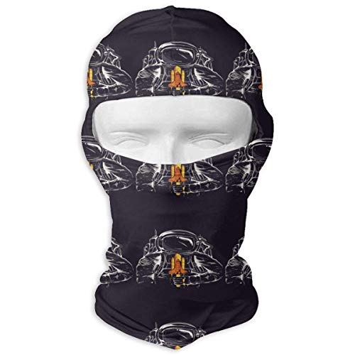 Pizeok Wind-Resistant Balaclava, Astronaut Space Mars Ski Mask for Skateboard Multicolor20