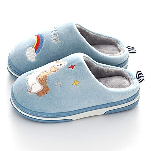 Coqui Unicorn Slippers for Girls and Boys Winter Plush Slippers Anti-Slip House Shoes, Soft Warm Comfortable Practical Slippers