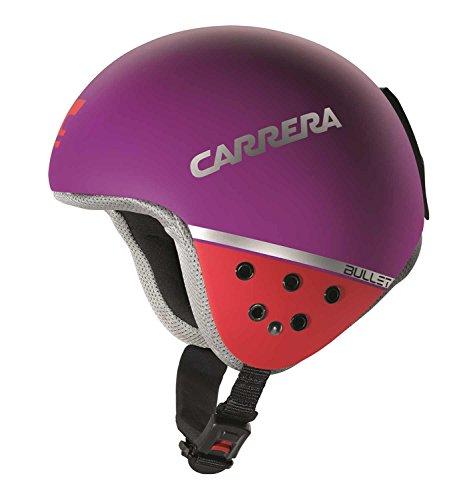 Carrera Bullet - Casco de esquí para Mujer, Color Morado y Rojo, Small