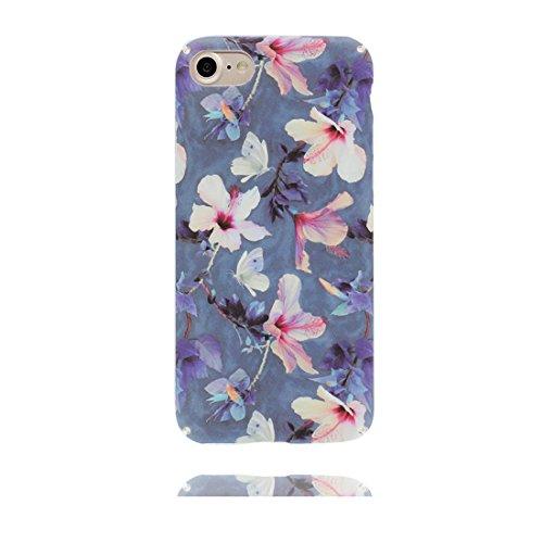 iPhone 6s Plus Custodia, Copertura iPhone 6 Plus 5.5, | Peso leggero ultra sottile Silicone Gel Soft Gel | Cartoon Fashion iPhone 6S Plus Case - Rosa fiore colorato, Antigraffio e ring supporto Color 2