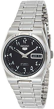 Seiko Men's Black Dial Stainless Steel Band Watch - Snk063J5, Silver Band, Analog Dis