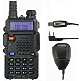 Baofeng UV-5R VHF/UHF Funkgerät mit Lautsprechermikrofon und Programmierkabel