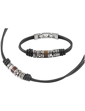 SET Fossil Armband und Kette, Herrenschmuck, Fossil JF84068 und JF84196