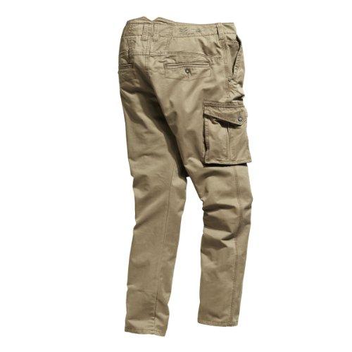 Timezone Herren Hose Normaler Bund Corbin cargo pants 26-0296 Braun (antique bronze 6151)
