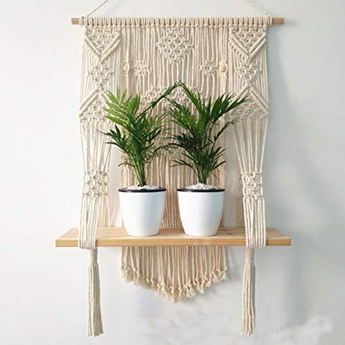YOUNICER Nordischen Stil Quaste Tapisserie Makramee Pflanzenhalter Blumentopf Quaste Korb Hause Wandbehang Dekoration