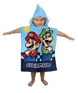 nintendo Character World - Serviette De Bain Poncho Super Mario Enfant (57,5 x 50 cm)