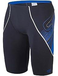 Speedo Speedofit V Jammer - Bañador unisex, color azul marino / blanco / amarillo, talla 34