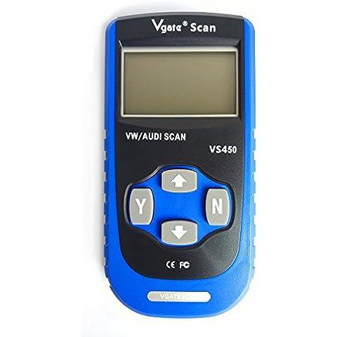 Vgate VS450 auto VAG CAN OBDII Scantool Code Reader - Audi Servizio Di Trasmissione