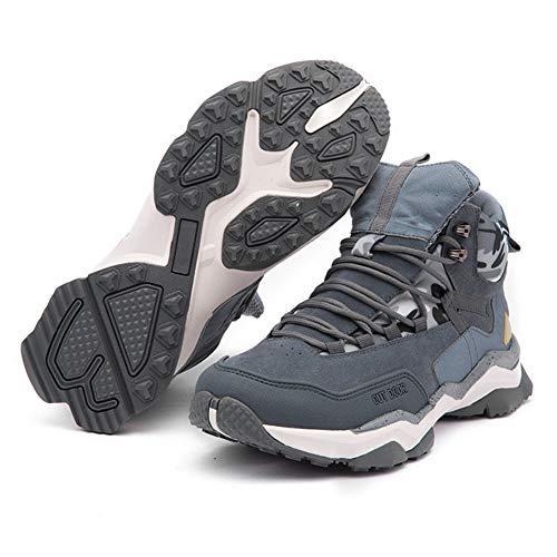 Männer Reise Schuhe Flut Schuhe Verschleißfeste Sportschuhe Outdoor Bergsteigen Freizeitschuhe Hohe Hilfe Laufschuhe Erhöhung Persönlichkeit Retro Größe 38-44,Gray,43