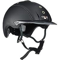Casco Mistrall Adultos equitación, Todo el año, Unisex, Color Negro - Negro Titanio, tamaño L (59-62 cm)